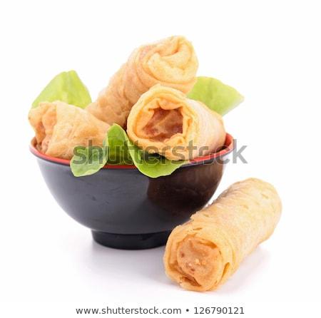 Asya · gıda · karides · arka · plan · beyaz - stok fotoğraf © m-studio