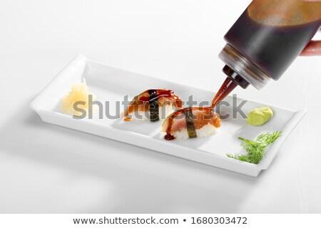 sushi · pirinç · soya · sosu · akşam · yemeği · yemek · yemek - stok fotoğraf © M-studio