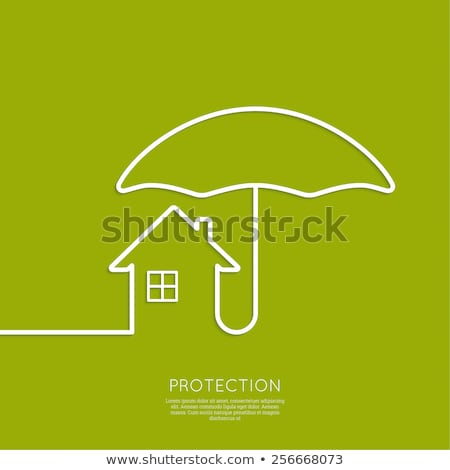 House under umbrella. Insurance concept. Stock photo © gladiolus