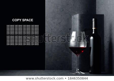 vazio · copo · de · vinho · copo · de · vinho · isolado · branco - foto stock © winterling