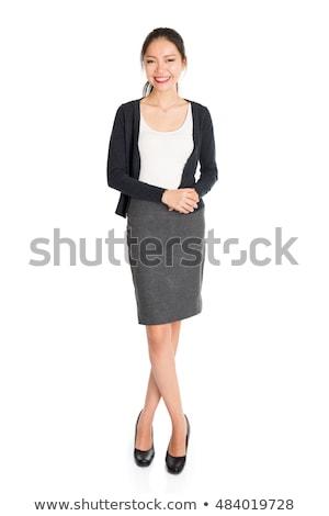Délkelet ázsiai titkárnő vonzó vállalati áll Stock fotó © szefei