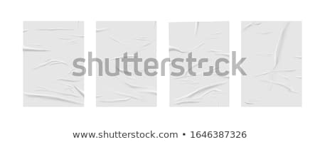 Vector folded paper with texture  Stock photo © Elisanth