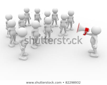 3d pessoas megafone vermelho amarelo negócio abstrato Foto stock © Quka