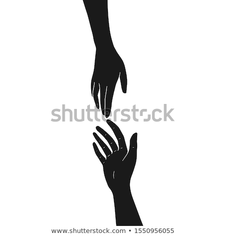 mão · fora · ajudar · isolado · branco · grupo - foto stock © mtkang