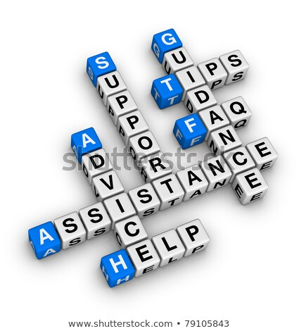 Assistance Support Guidance In Color Cubes Crossword Stok fotoğraf © ALMAGAMI