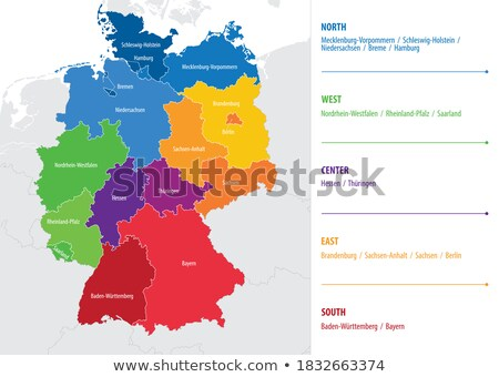 Map of Germany with Baden-Württemberg stock photo © Ustofre9