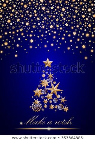 青 クリスマスツリー ベクトル ダイヤモンド ポスター ツリー ストックフォト © krabata