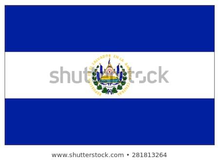 Bandeira El Salvador sombra branco preto cor Foto stock © claudiodivizia