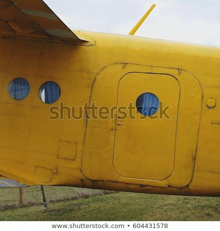 古い · 飛行機 · 航空機 · コックピット · エンジン - ストックフォト © lillo