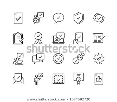 Vector icon stamp stock photo © zzve