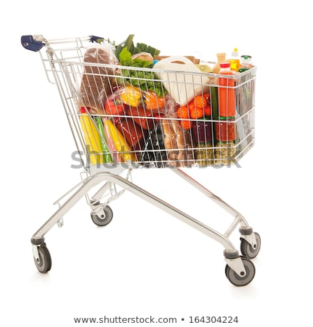 shopping cart with dairy product Stock photo © M-studio