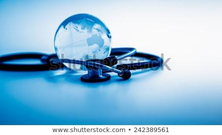 stethoscoop · wereldbol · witte · arts · wereld · ziekenhuis - stockfoto © 4designersart