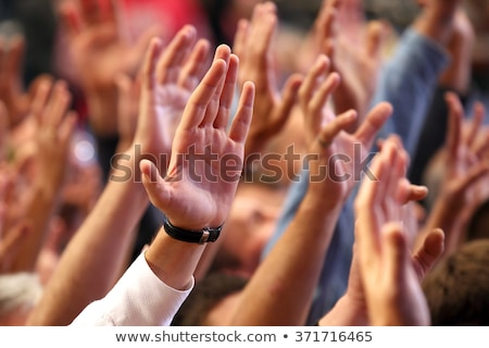 Crowd Raising Hands Stock photo © cteconsulting