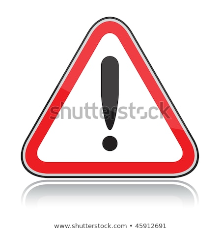 Red triangular other dangers warning sign on white Stock photo © SolanD