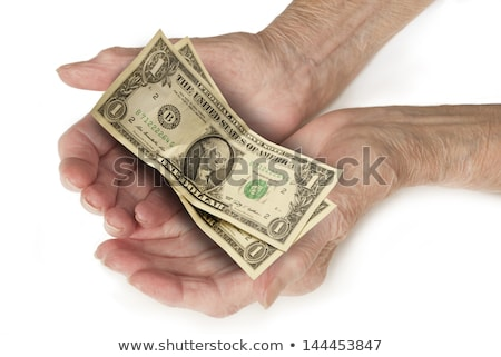 Old and Broke - Counting Money in Hands Dollars Stock photo © fenton