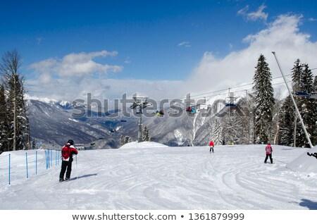 Панорама · лыжных · широкий · альпийский · лыжах · ледник - Сток-фото © gophoto