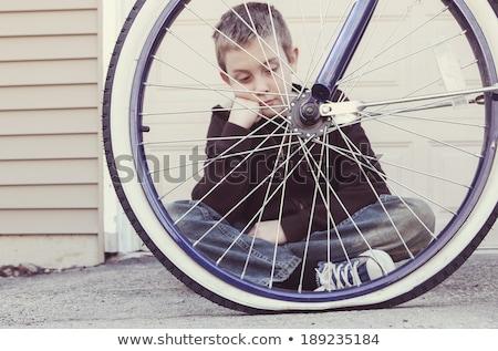 велосипед шин рук велосипедов сломанной Сток-фото © Zerbor