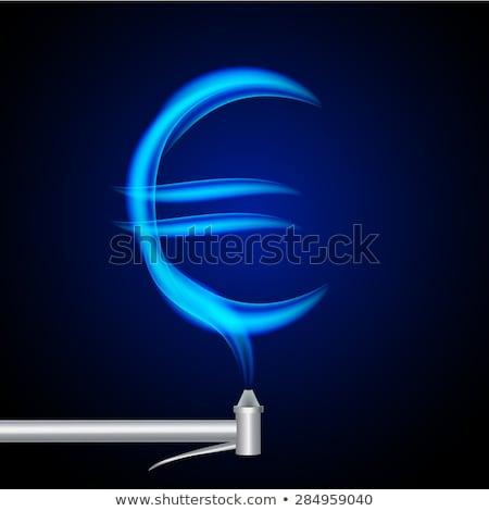 Euro símbolo ardente fogo assinar Foto stock © Fernando_Cortes