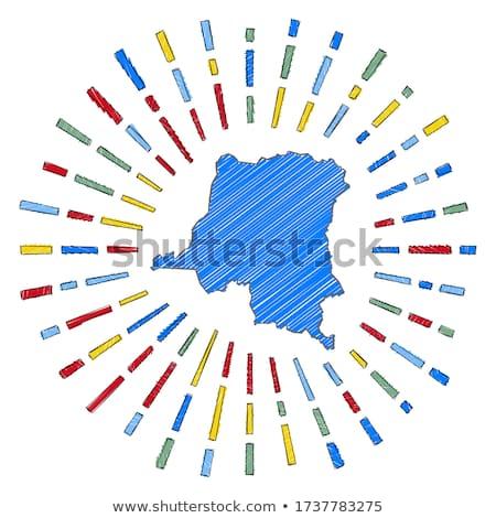 Flagge demokratischen Republik Kongo Hand Farbe Stock foto © claudiodivizia