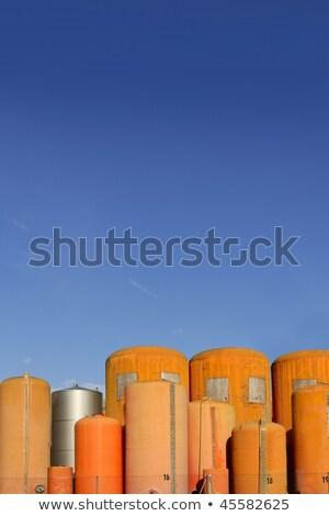 Liquid cylinder industry container orange fiberglass  Stock photo © lunamarina