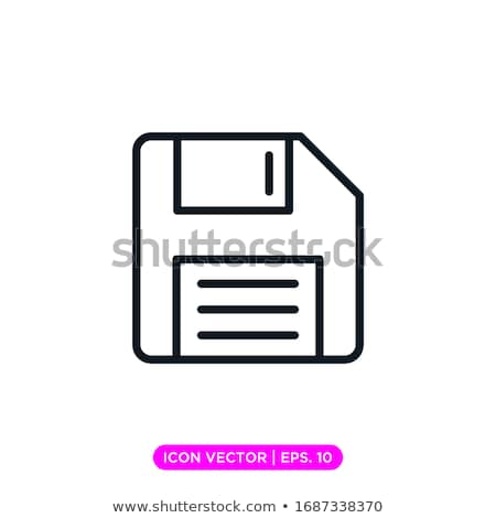 Vector icon floppy disk Stock photo © zzve