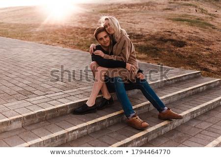 カップル · 愛 · 座って · 夏 · 公園 - ストックフォト © chesterf