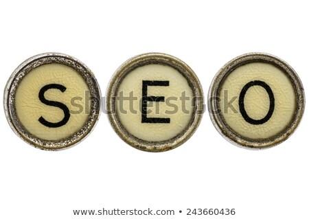 Web Traffic Key on Grunge Typewriter. Stock photo © tashatuvango