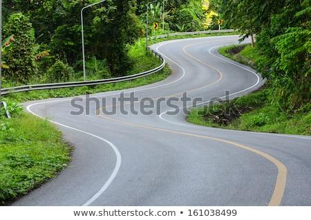 Sceniczny autostrady spadek krajobraz samochodu charakter Zdjęcia stock © gophoto