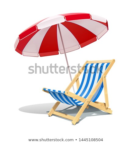 Chaise longue on the beach. Stock photo © Kurhan