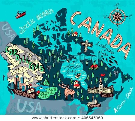 rajz · Toronto · sziluett · Kanada - stock fotó © blamb