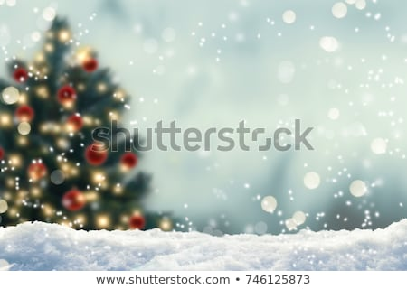 Bokeh festive christmas background with snow flakes Stock photo © simpson33