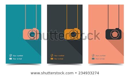 mavi · fotoğrafçı · kartvizit · iş · kart · modern - stok fotoğraf © rioillustrator