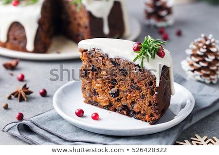 naranja · tarta · madera · fondo · torta - foto stock © keko64