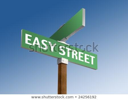 Kolay sokak tabelasını vektör yol harita Stok fotoğraf © burakowski
