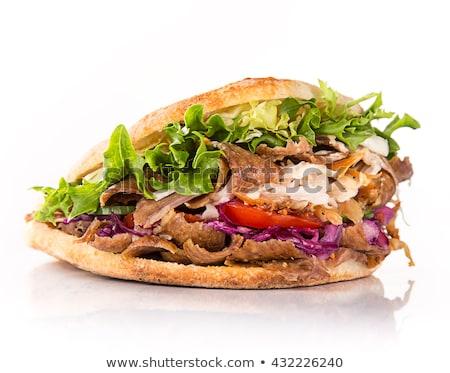 Kebap yalıtılmış gıda akşam yemeği barbekü sopa Stok fotoğraf © M-studio