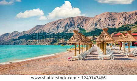 Bay in Krk Island with view to Baska, Croatia Stock photo © fisfra