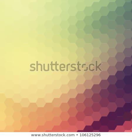 Digital hexágono mosaico abstrato brilhante Foto stock © sidmay