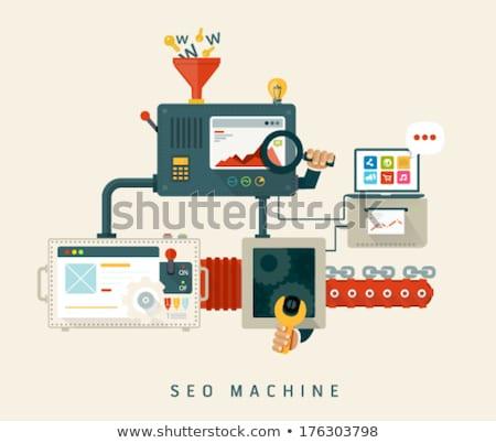 Website SEO machine, process of optimization. stock photo © pulsar75