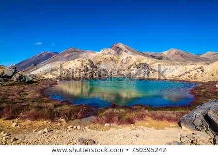 Beautiful emerald lake in spring landscape Stock photo © Nejron