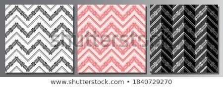 Vermelho sem costura ziguezague dobrado linhas Foto stock © Zebra-Finch