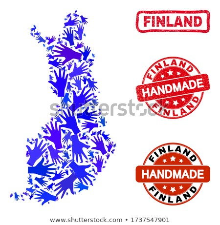 Foto stock: Made In Finland - Red Rubber Stamp