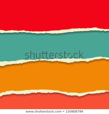 Rip paper background with banner in flat style Stock photo © gladiolus