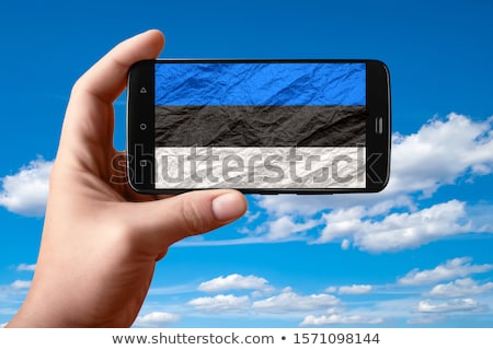 smartphone national flag of estonia    Stock photo © vepar5