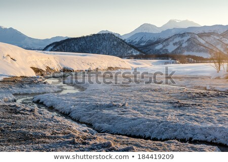 Stock photo: Nalychevo Nature Park at sunrise. Kamchatka Peninsula, Far East.
