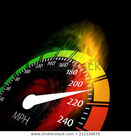 Speedometer with speed fire path Stock photo © m_pavlov