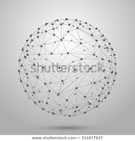 Punteggiata griglia sferico forme piastrelle può Foto d'archivio © PeterHermesFurian