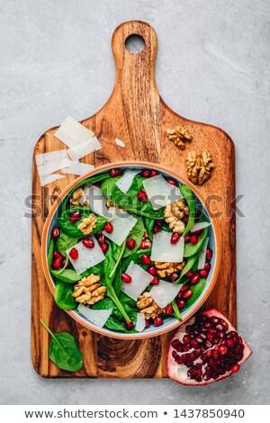 ceviz · çanak · bej · renk · gıda · bitki - stok fotoğraf © m-studio
