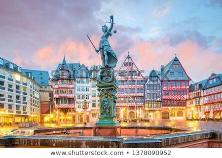 panorama · Frankfurt · hoofd- · Duitsland · kantoor - stockfoto © unkreatives