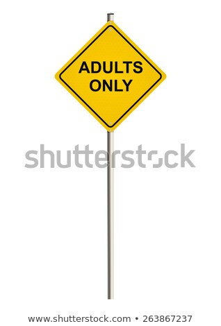 adult content on warning road sign stock photo © tashatuvango