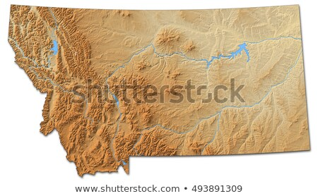Map of Montana Stock photo © rbiedermann